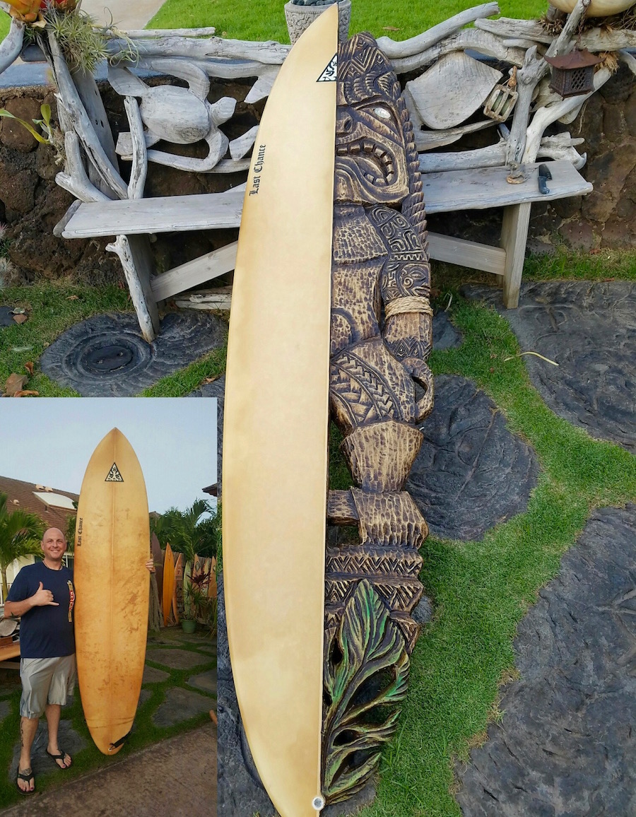 Recycled Surfboard Carving