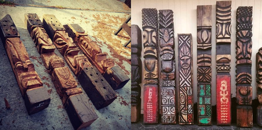 south sea arts tiki totems